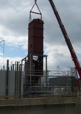 Stützgerüst Biomasseheizkessel