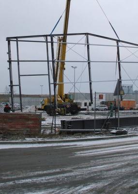 Neubau Produktionshallen Tangermünde Holzpelletwerk